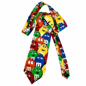 M & M Brand -Characters All Over Large Vintage Tie